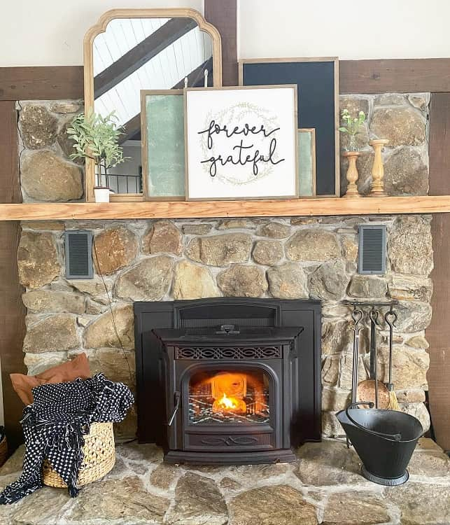 Family Room Black Fireplace Mantel Decor Kblproplife