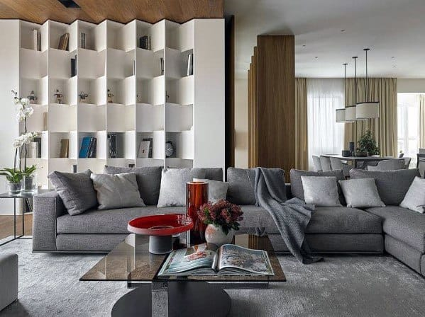 Family Room Floor To Ceiling Bookshelves Cool Interior Ideas