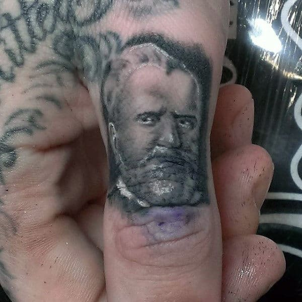 Famous American President Thumb Tattoos For Males