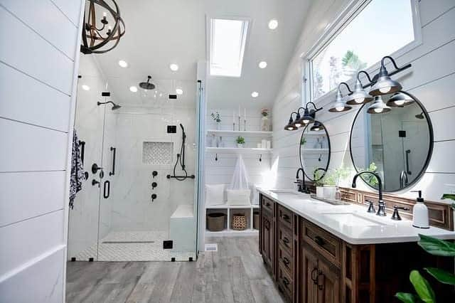 Fancy Modern Farmhouse Bathroom Dbh Design