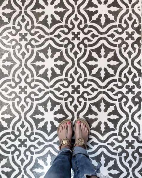 Fancy Painted Floor Idea Inspiration