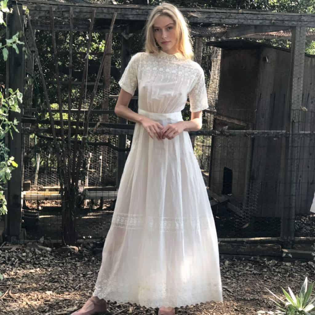Fancy White Victorian Dress