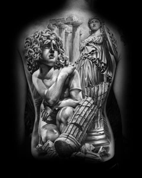 Fantastic Athena Tattoo Designs For Men