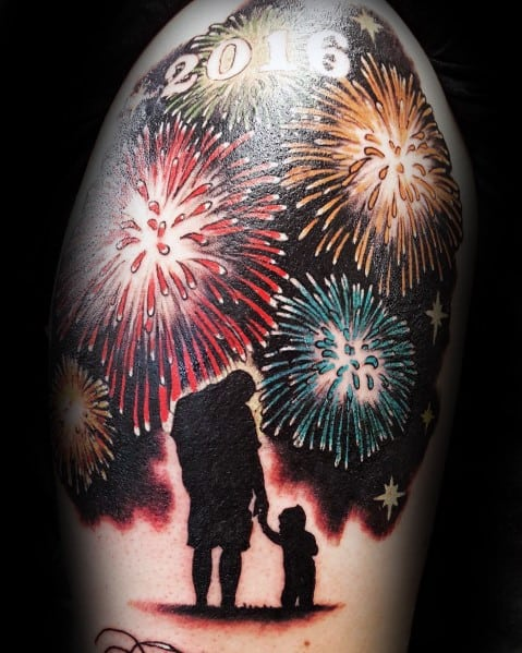 Fantastic Fireworks Tattoo Designs For Men