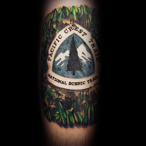 Fantastic Hiking Tattoo Designs For Men