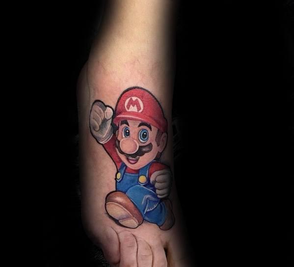 Fantastic Mario Tattoo Designs For Men
