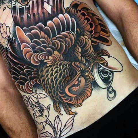 Fantastic Neo Traditional Tattoo Males Torso