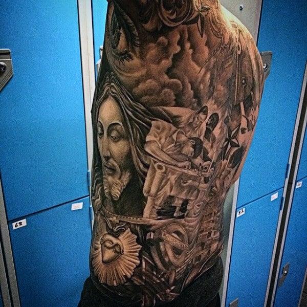 Fantastic Tattoo Male Armpit