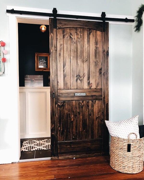 Farm House Bathroom Barn Door