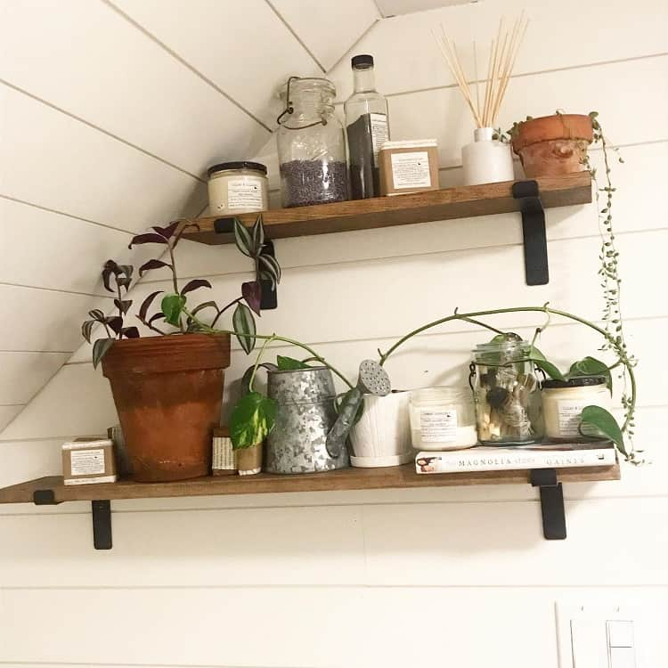 Farm House Bathroom Shelf Brackets Erin Vt