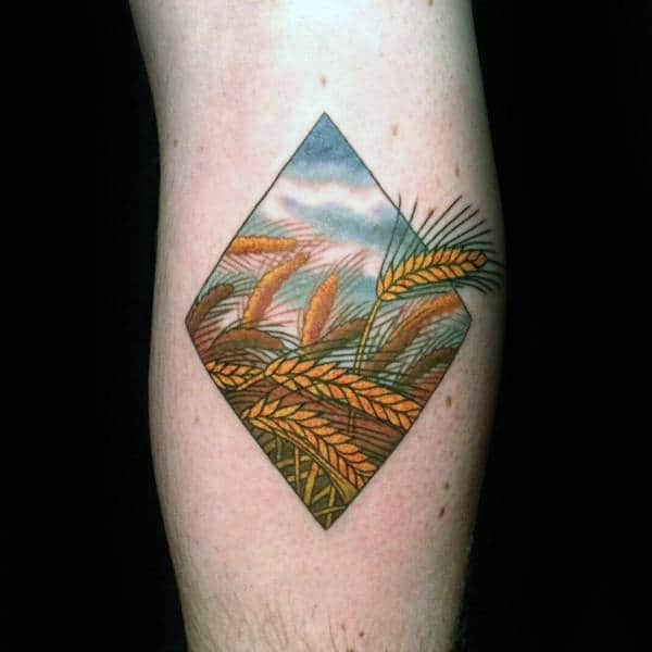 Farming Tattoo Designs : Wheat tattoo designs for men cool crop ink ideas