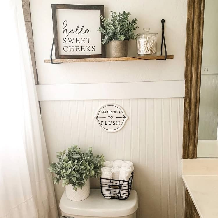 Farmhouse Bathroom Shelf Brackets Thecoreyhomestead