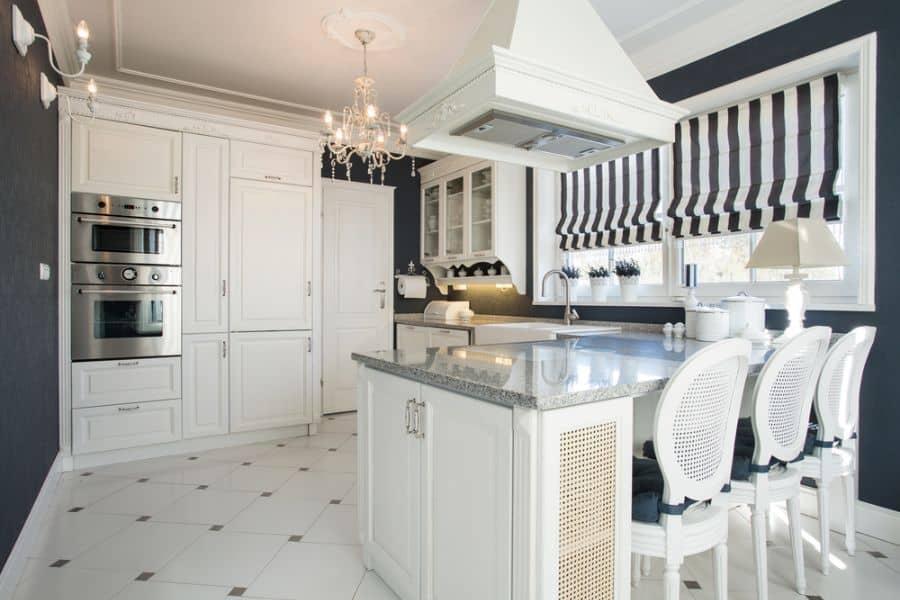 Farmhouse Black And White Kitchen 1