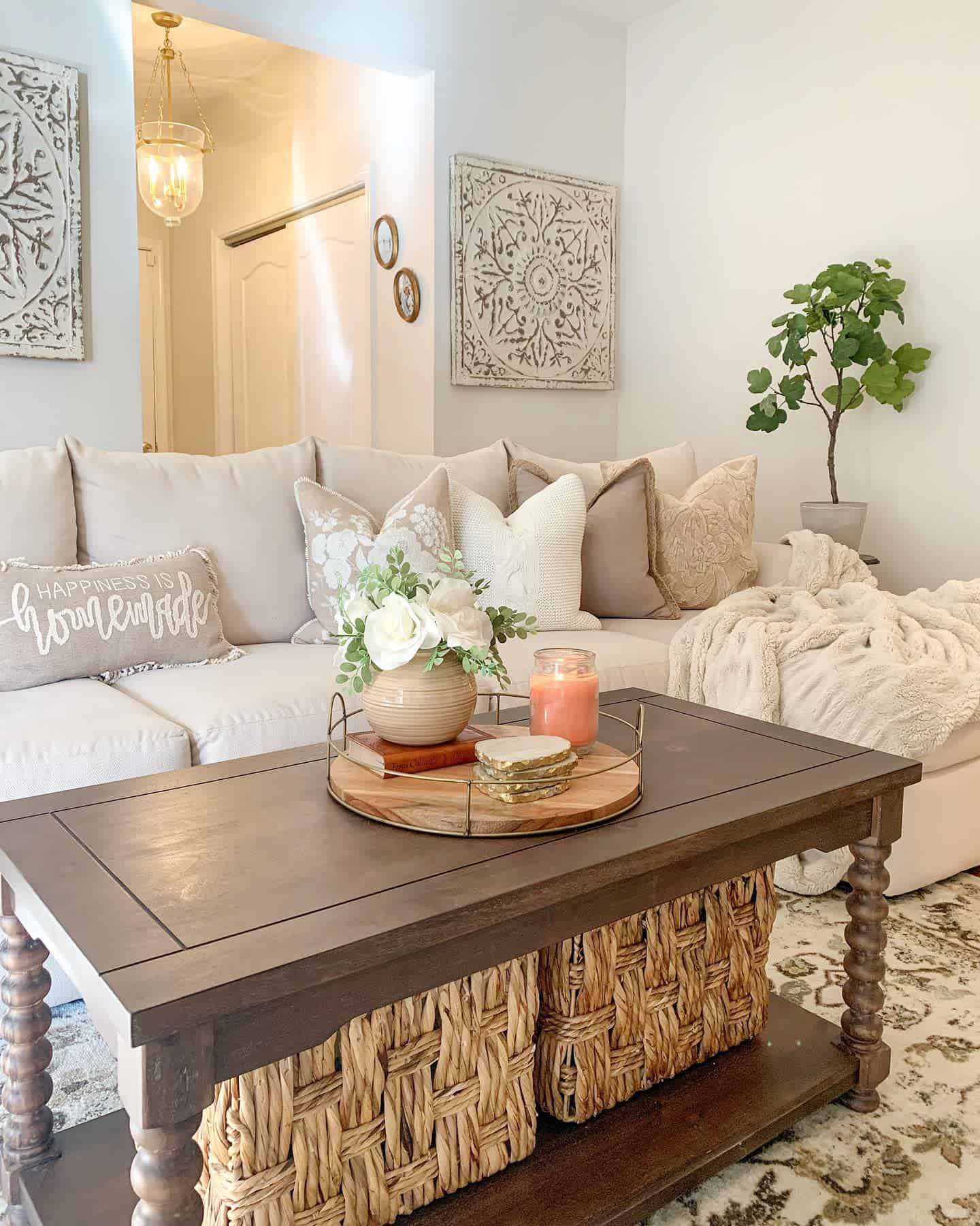 Farmhouse Chic Farmhouse Living Room Ideas Ourcozycasa