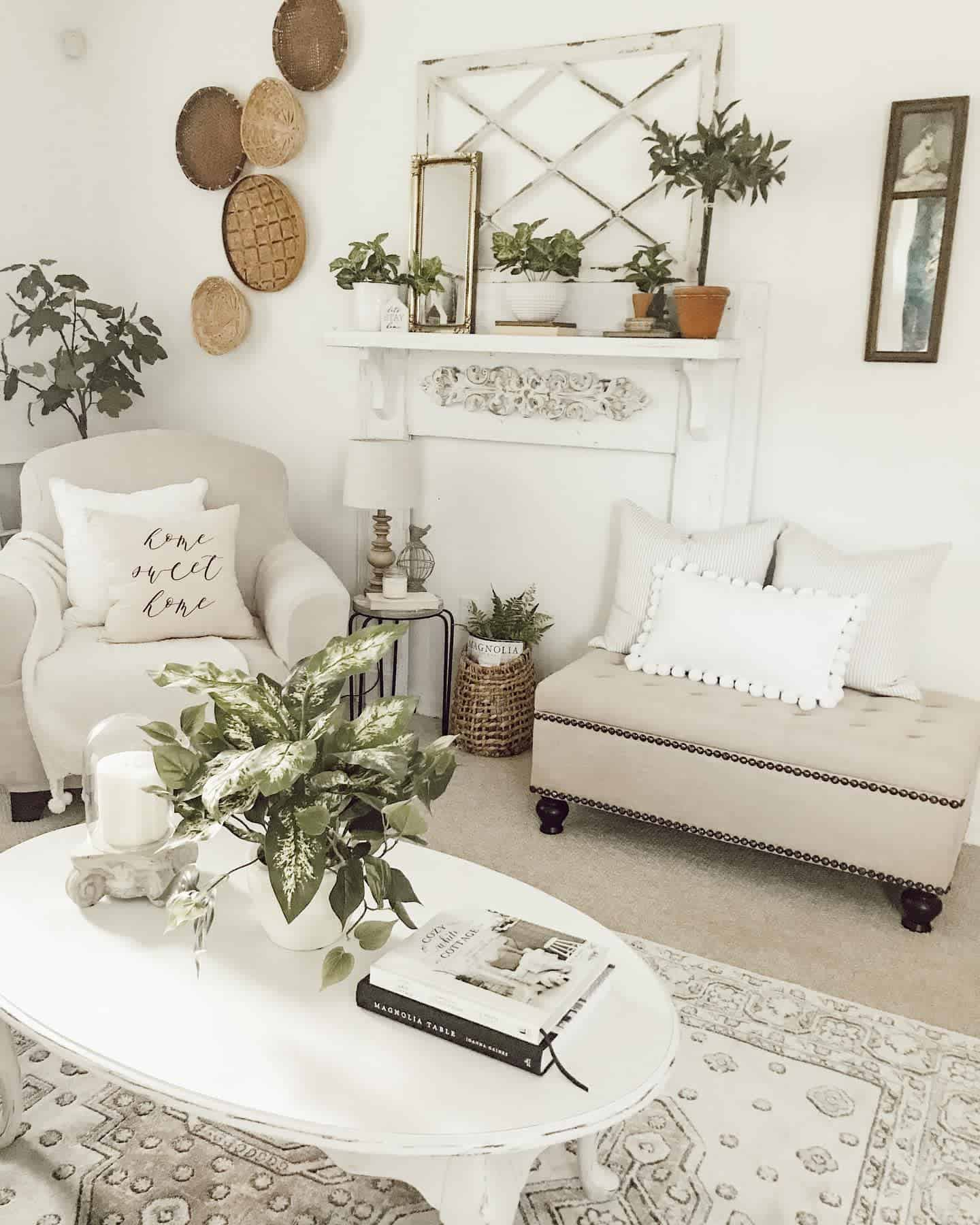 Farmhouse Chic Farmhouse Living Room Ideas Sunnygacharm
