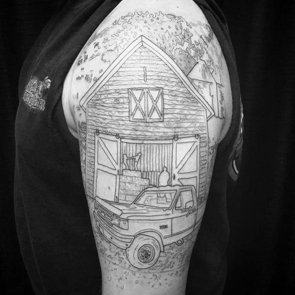 60 Farming Tattoos For Men Agriculture Design Ideas