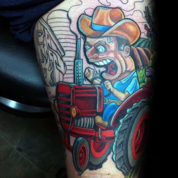 Farming Tattoo Designs For Gentlemen