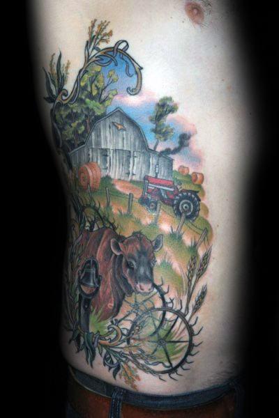 Farming Tattoo Designs On Men