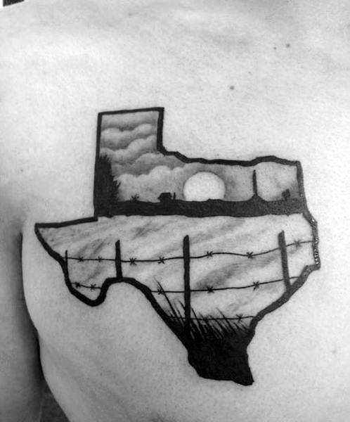 Farming Tattoo On Man