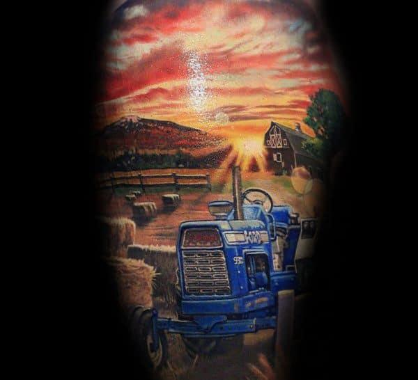 Farming Themed Tattoo Ideas For Men