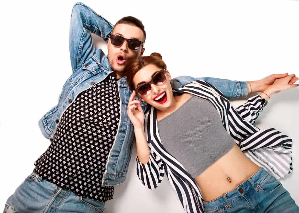 fashion couple in sunglasses