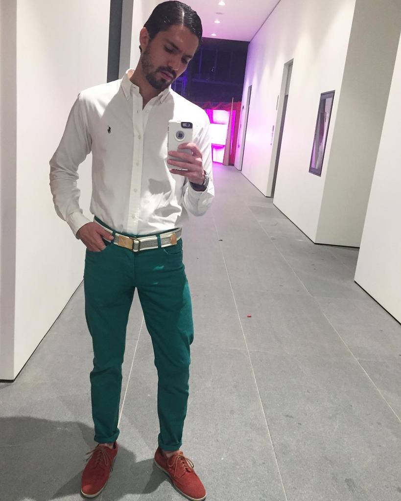 Fashion Guy Green Pants Outfit