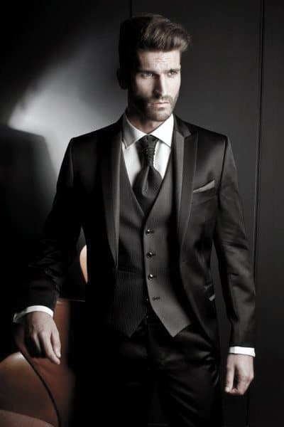 Fashion Mens Black Suits Formal Looks