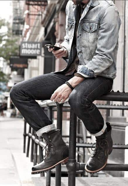 Fashion Mens How To Wear Boots Outfits