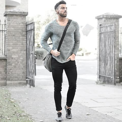 Fashion Mens What To Wear With Black Jeans Outfits