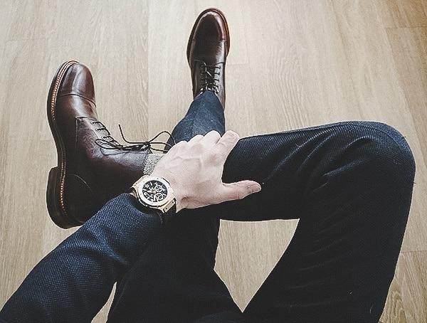 Fashionable Luxury Mens Leather Boots Beckett Simonon Dowler Cap Toe