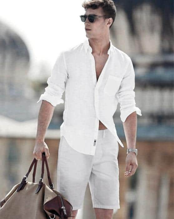 Fashionable Male All White Outfits