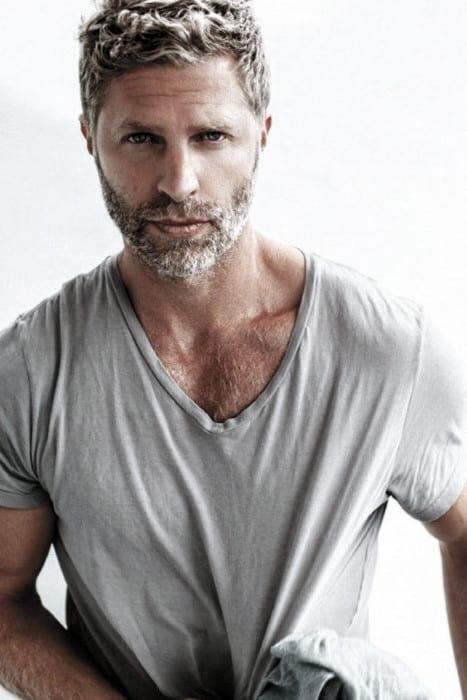 Fashionable Male Beard Grey Styles