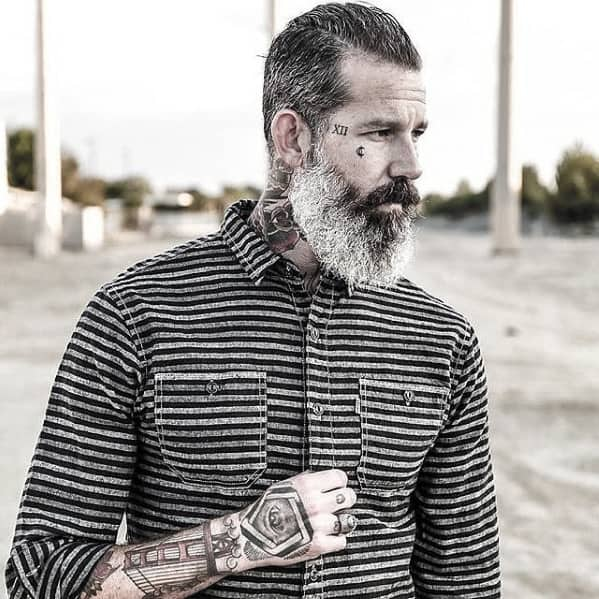 Fashionable Mens Grey Beard Style Ideas