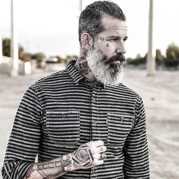 Fashionable Mens Grey Beard Style Ideas