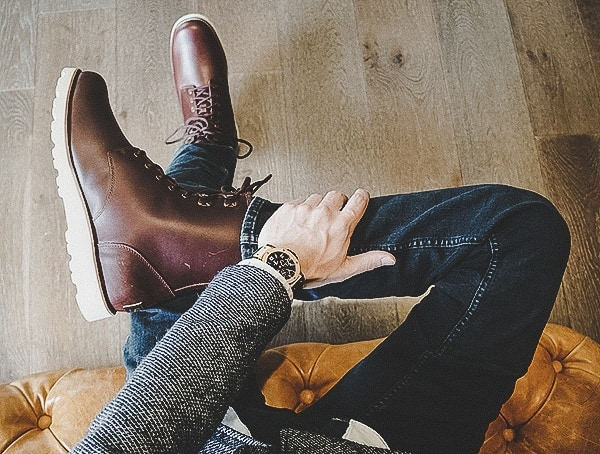 Fashionable Waterproof Leather Cordovan Mens Ugg Hannen Tl Boots