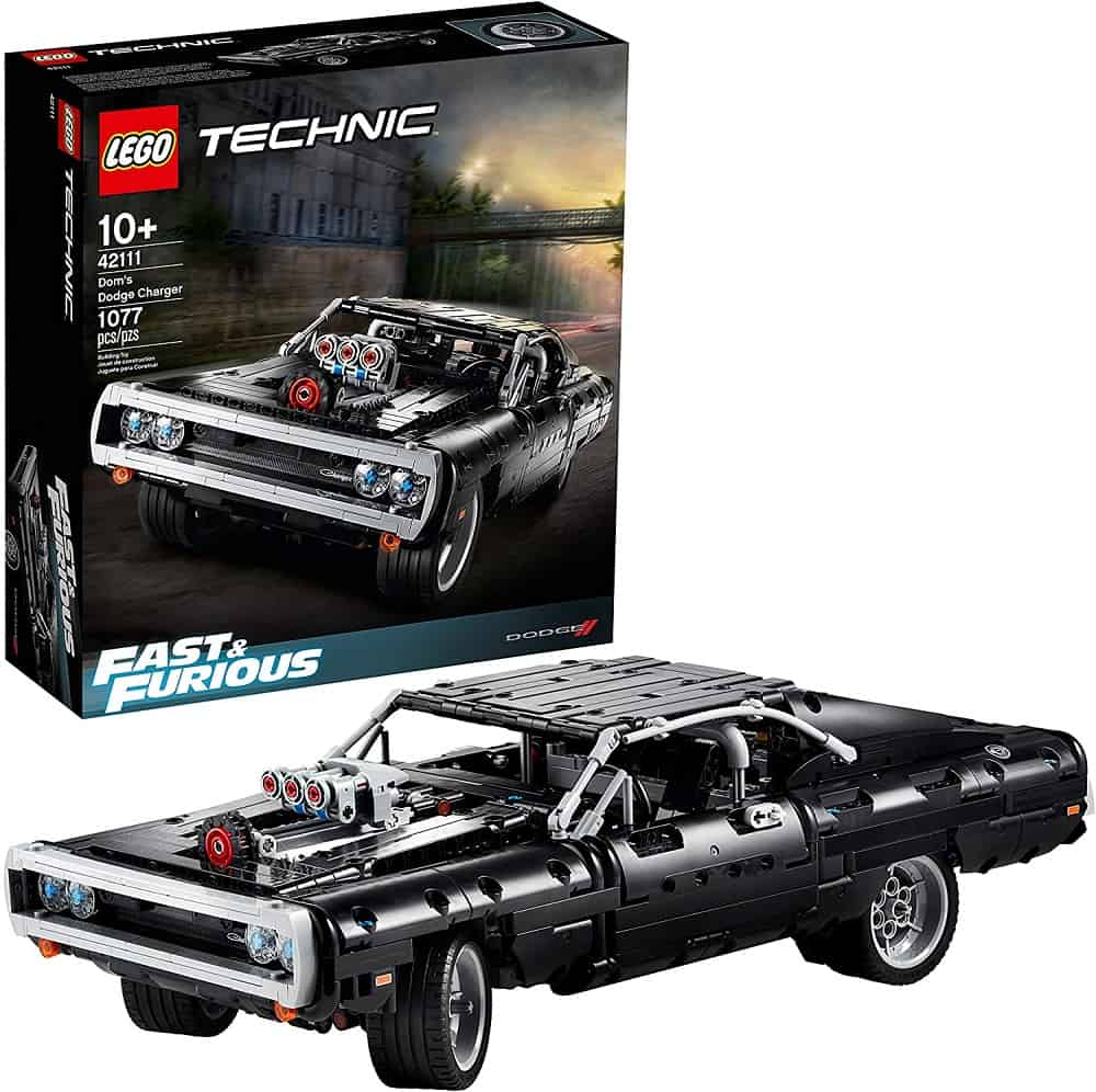 lego technic fast & furious doms dodge charger race car building set