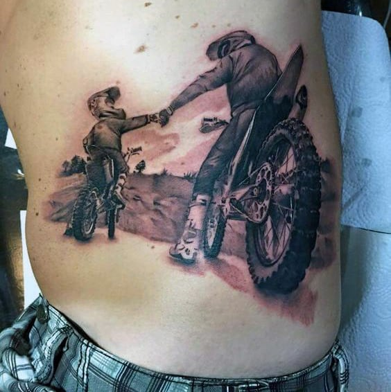 70 motocross tattoos for men dirt bike design ideas. Black Bedroom Furniture Sets. Home Design Ideas