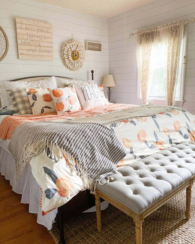 faux brick and panelling bedroom wallpaper ideas floralandpearls