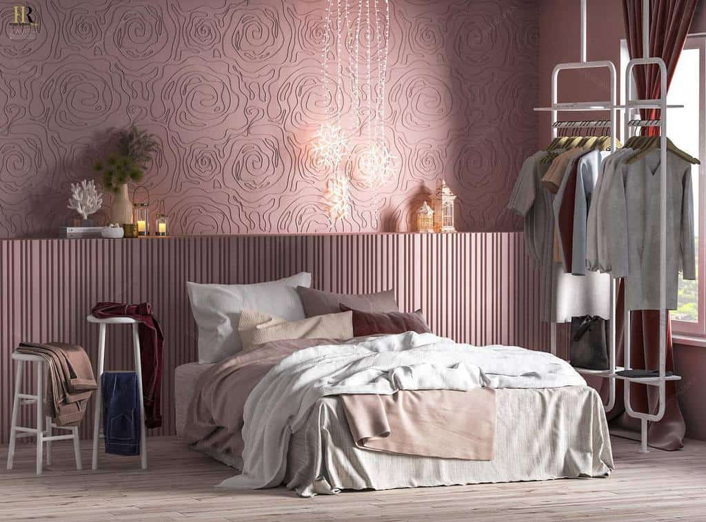 faux brick and panelling bedroom wallpaper ideas hediehranjbar.design