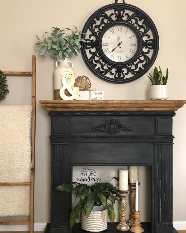 Faux Fireplace Mantel Decor My Home Matters