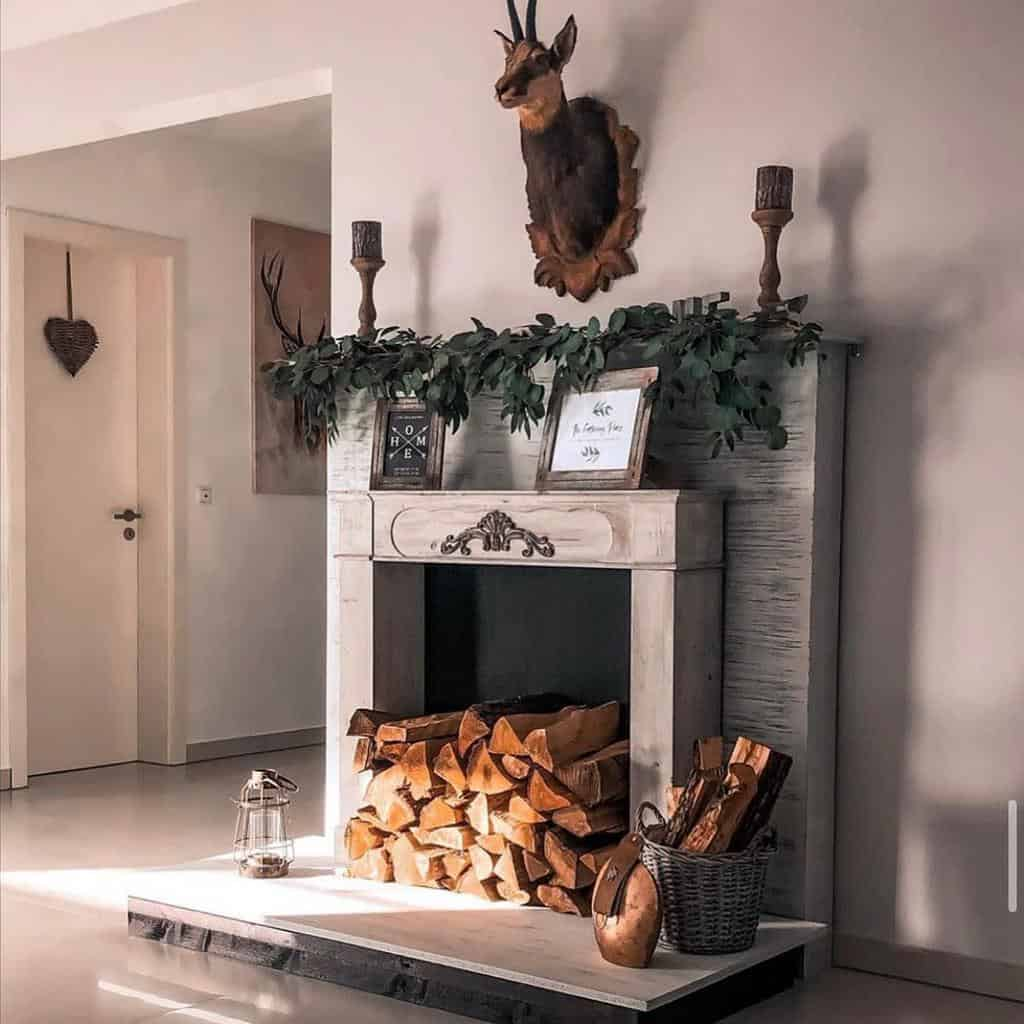 faux fireplace wall ideas landhaus.no.6