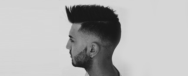 Faux Hawk Fade Haircut For Men