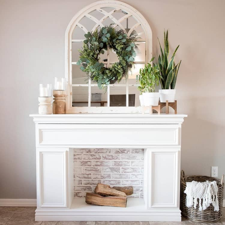 Faux Storage Fireplace Mantel Decor Addicted2diy