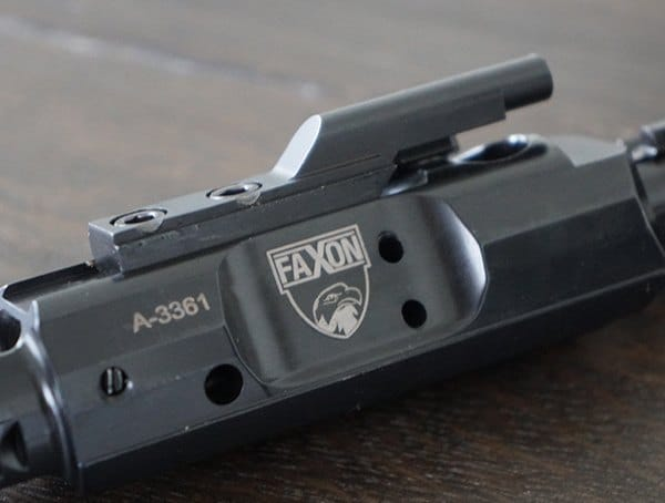 Faxon Firearms 308 Full Mass Bolt Carrier Group Complete Nitride Up Close