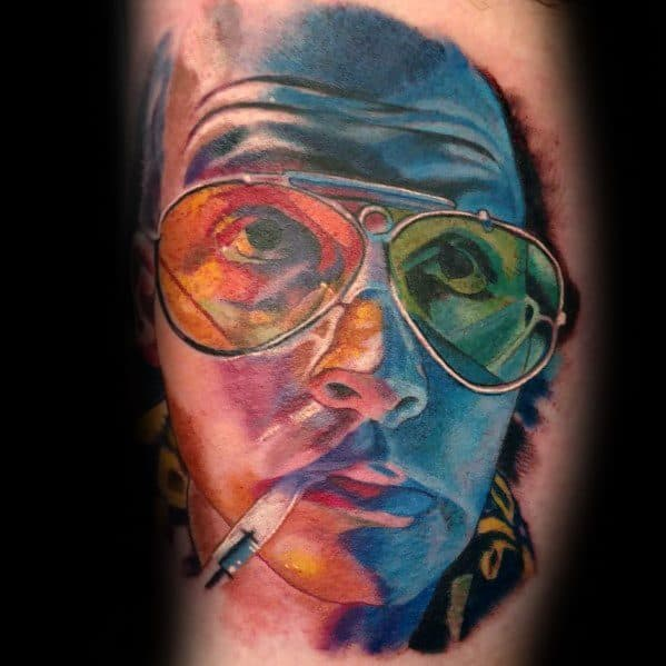 Fear And Loathing Themed Hunter S Thompson Tattoo Ideas