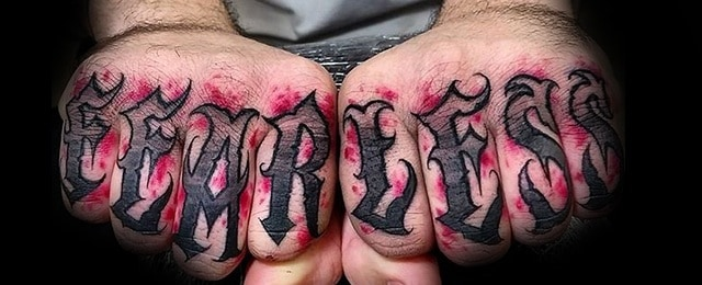 Fearless Tattoo Designs For Men