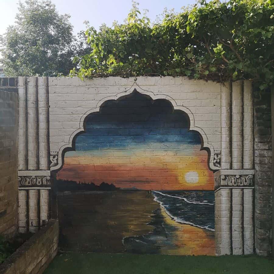 fence and wall decor garden decor ideas muralsbysarah
