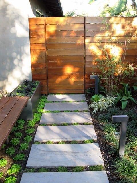 Fence Door Modern Landscape Design