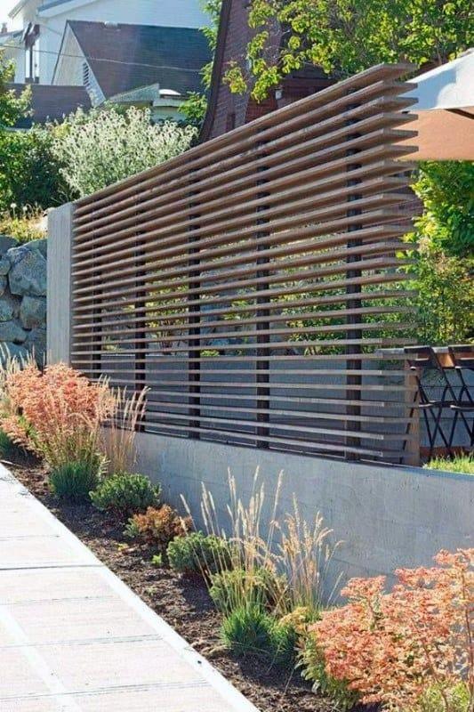 Fence Modern Landscape Design