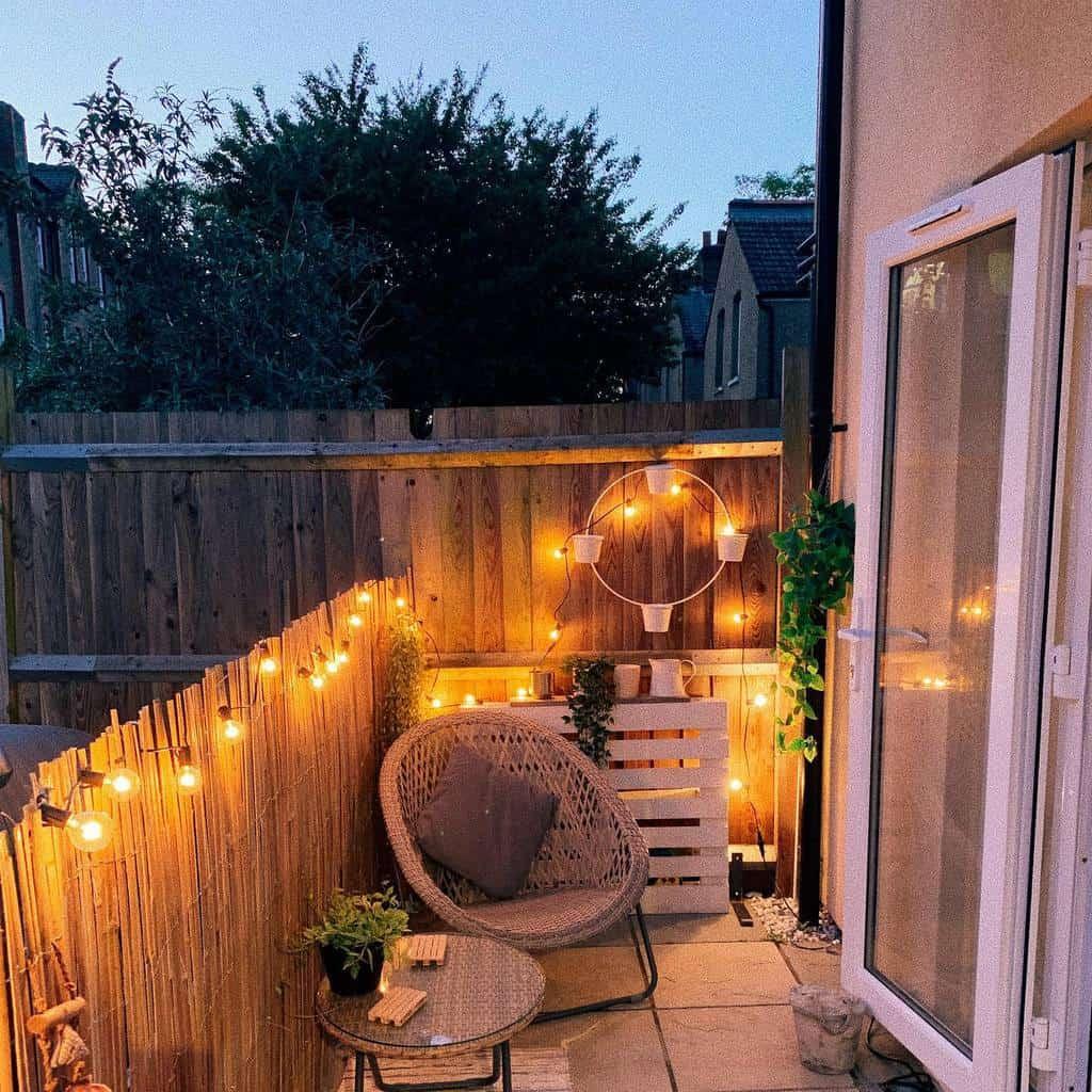 fence patio privacy ideas hannah.athome